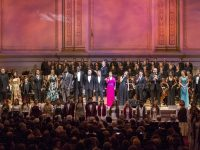 Photo: The New York Pops 33rd Birthday Gala Do You Hear the People Sing The New York Pops Steven Reineke, Music Director and Conductor Honorees: Alain Boublil and Claude-Michel Schönberg Guest Artists: Stephanie J. Block, Jesse Tyler Ferguson, Montego Glover, Jeremy Jordan, Norm Lewis, Robert Marien, Patti LuPone, Eva Noblezada, Laura Osnes, John Owen-Jones, Hugh Panaro, Lea Salonga, Kyle Scatliffe, Marie Zamora, and Judith Clurman's Essential Voices USA concert photographed:  Monday, May 2, 2016; 7:00 PM at Isaac Stern Auditorium at Carnegie Hall; Photograph: © 2016 Richard Termine  PHOTO CREDIT - Richard Termine